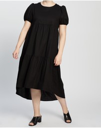 Atmos&Here Curvy - Jada Linen Blend Midi Dress
