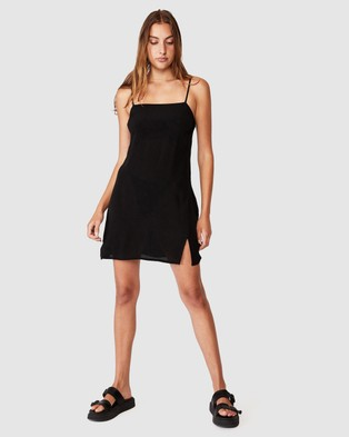 Cotton On Woven Kye Strappy Mini Dress - Dresses (Black)