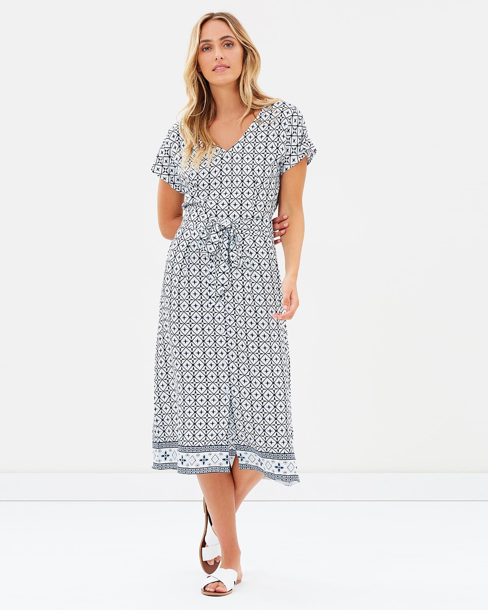 Elwood Milton Dress Print Dresses Print Milton Dress Print