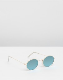 Paigey Oval Metal Sunglasses