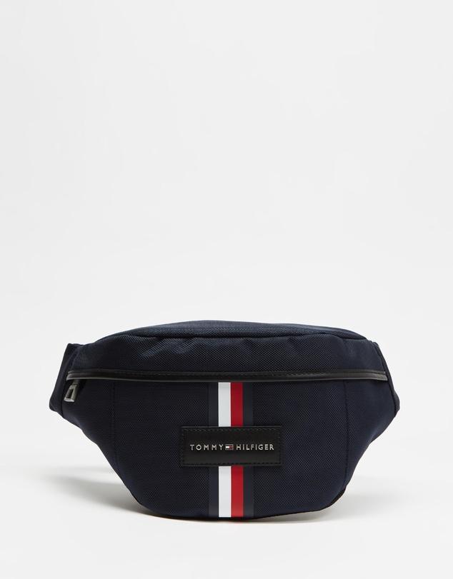Tommy Hilfiger Women Men Black Adjustable Fanny Pack Crossbody  Bag
