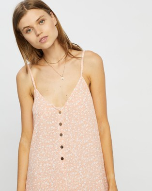 Barefoot Blonde Coco Romper - Jumpsuits & Playsuits (Peach)