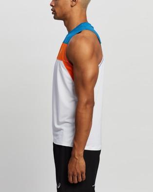 ASICS Race Singlet - Muscle Tops (Brilliant White & Reborn Blue)