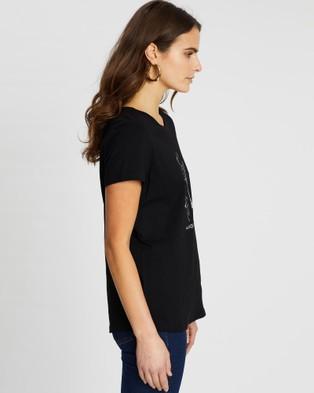Runaway the Label - Aquarius Tee - T-Shirts & Singlets (Black) Aquarius Tee