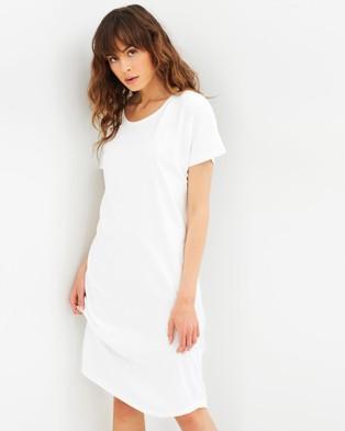 Cloth & Co. – Organic Cotton Long T Shirt Dress White