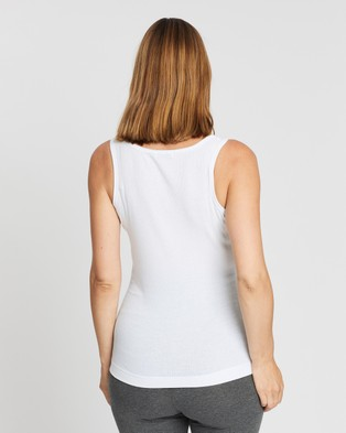 Cotton On Maternity Maternity Henley Sleeveless Tank - Maternity Singlets (White)