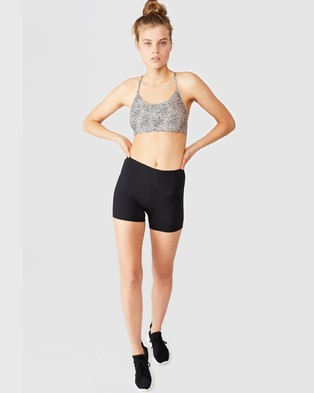 Cotton On Body Active High Waisted Shortie Shorts - Shorts (Core Black)