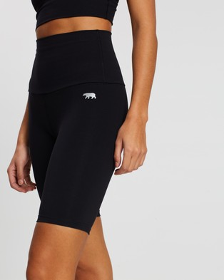 Running Bare Ab Tastic Spin Bike Tights - 1/2 Tights (Black)