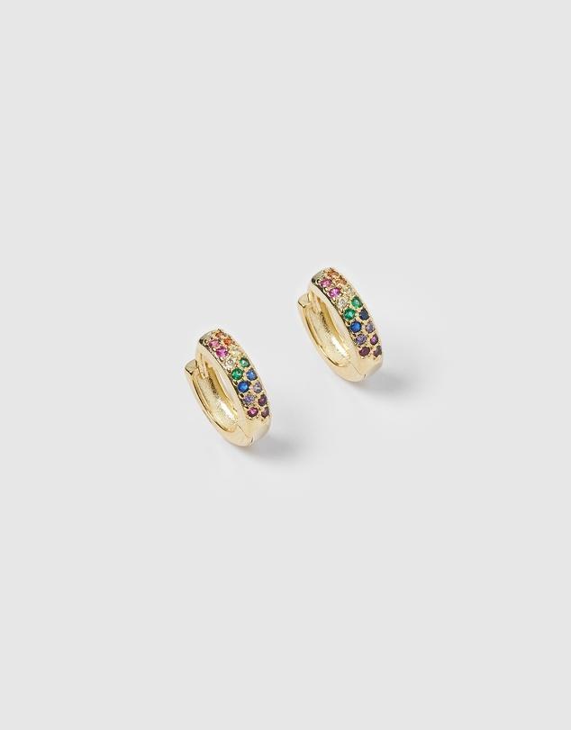 Women Rainbow Huggie Earrings