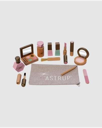 Astrup - Wooden Make-up Set, 13pcs