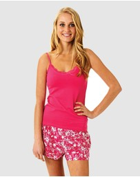 Deshabille Sleepwear  - Pink Hope Tulip Short