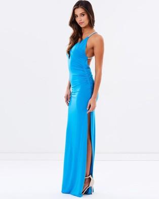 SKIVA – Cross Strap Evening Dress – Dresses (Light Blue)