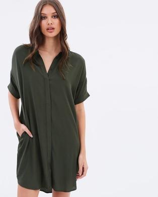 Lulu & Rose – Hayes Loose Shirt Dress – Dresses (Khaki)