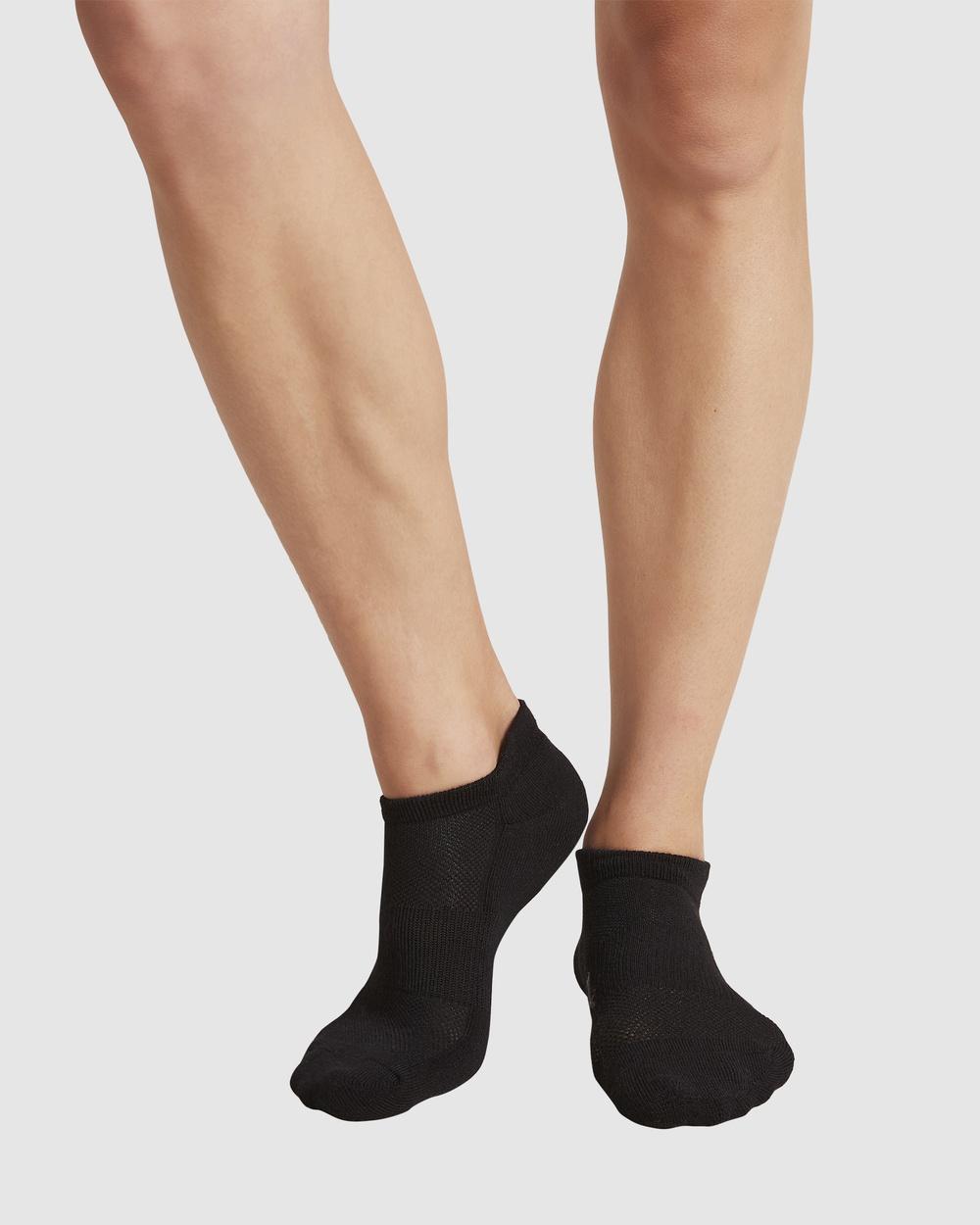 Boody 4 Pack Active Sports Sock Socks & Tights Black
