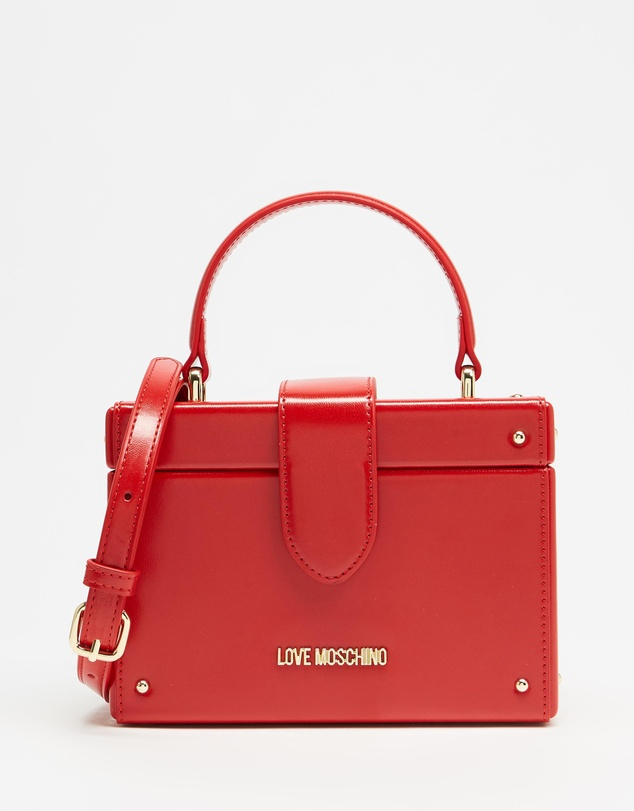 LOVE MOSCHINO - Patent Mini Box Cross-Body Bag