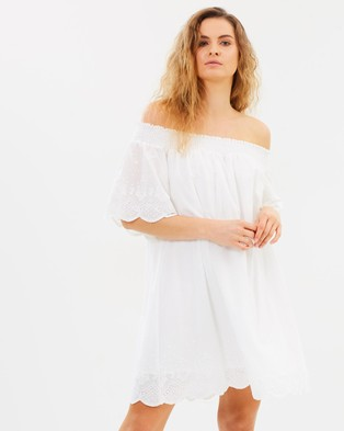 MINKPINK – Athena Broderie Anglaise Dress Cream
