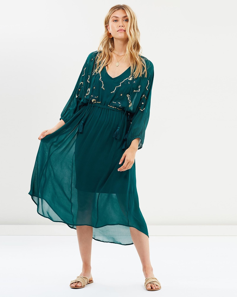 Gysette Teal Pia Dress