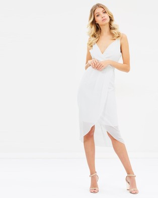 Cooper St – Flame Of The Forest Drape Dress – Bridesmaid Dresses Brilliant White