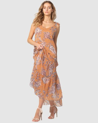 Three of Something Sunshine Paisley Ella Dress - Printed Dresses (SUNKEEPER PAISLEY)