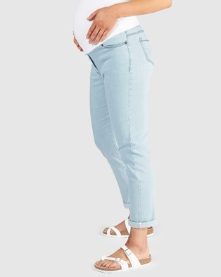 Pea in a Pod Maternity Willa Relaxed Denim Jeans - Relaxed Jeans (Sky Wash)