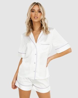 Modern Romantique Aubrey Pyjama Set - Two-piece sets (White)