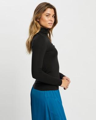 Vero Moda Long Sleeve Rollneck Blouse - Tops (Black)