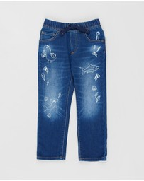 babyGap - Critter Pull-On Slim Jeans - Babies-Kids