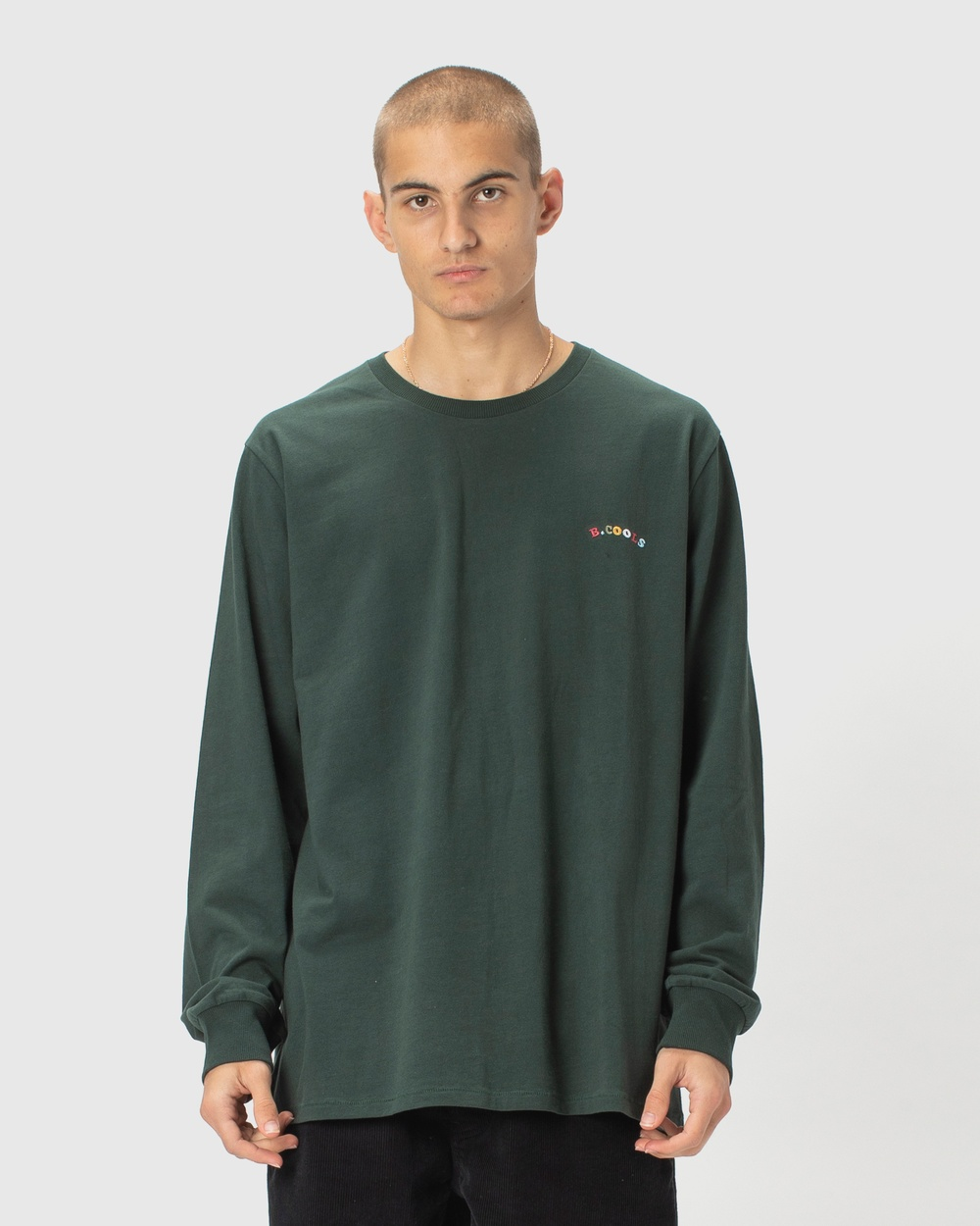 Barney Cools B.Cools Embro LS Tee Long Sleeve T-Shirts Forest Australia