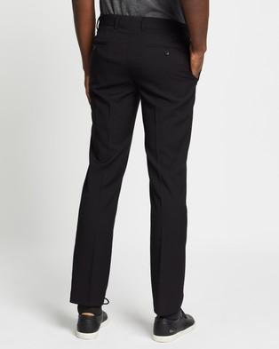 Double Oak Mills Dom Slim Tailored Trousers - Pants (Black)