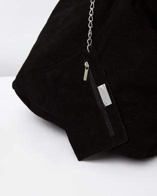 Marlafiji Wendy Suede Hobo - Bags (Black)
