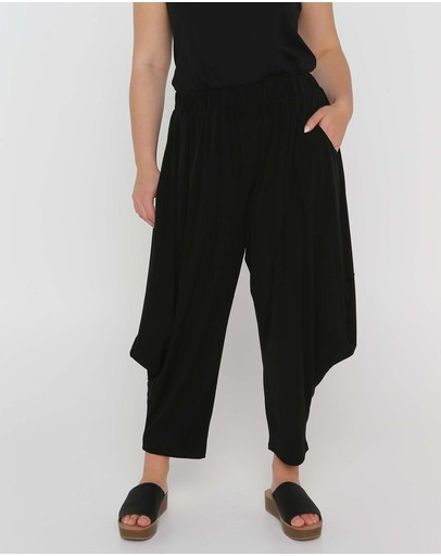 Advocado Plus Dalma Side Tie Pants Black