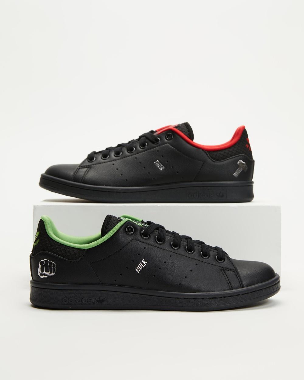 adidas Originals Stan Smith X Disney Hulk Unisex Sneakers Black, Silver & Scarlet