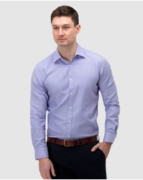 Brooksfield - Micro Textured Reg Fit Business Shirt