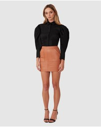 TORANNCE - Everyday Leather Mini Skirt
