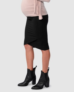 Pea in a Pod Maternity Harley Cross Hem Skirt - Pencil skirts (Black)