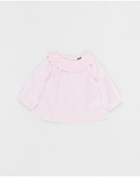 Cotton On Baby - Tania Long Sleeve Ruffle Top - Babies