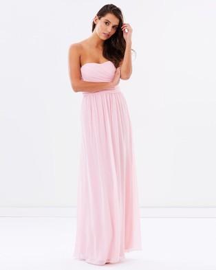 SKIVA – Strapless Chiffon Evening Dress Pink – Bridesmaid Dresses (Pink)