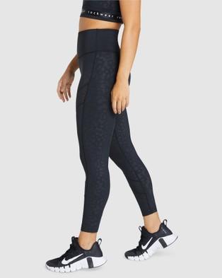 Rockwear Just Peachy Logo Ankle Grazer Tights - Full Tights (PEACHY BLACK)