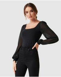 Forever New - Schapelle Puff Sleeve Square Neck