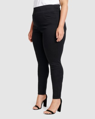 Forever New Curve Charlotte Curve High Rise Jeggings - Jeans (Black)