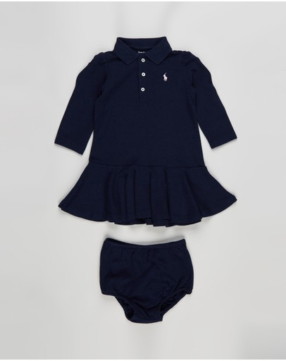 Polo Ralph Lauren - Long Sleeve Polo Dress Set - Babies