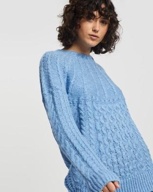 M.N.G Handia Sweater - Jumpers & Cardigans (Light Pastel Blue)
