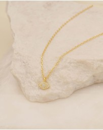 By Charlotte - Eye of Protection Gold Pendant Necklace