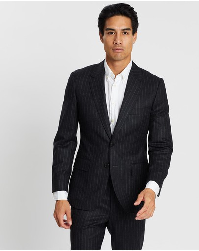 Gieves and Hawkes - Chalkstripe Wool Flannel Suit Jacket