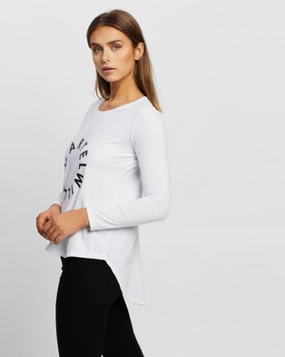 Cartel & Willow - Orbit Long Sleeve Tee Tops (White Black )