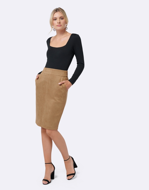 Forever New - Tammy Suedette Pencil Skirt
