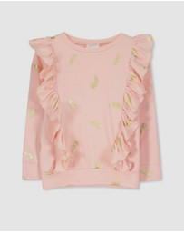Milky - Feather Frill Tee - Babies