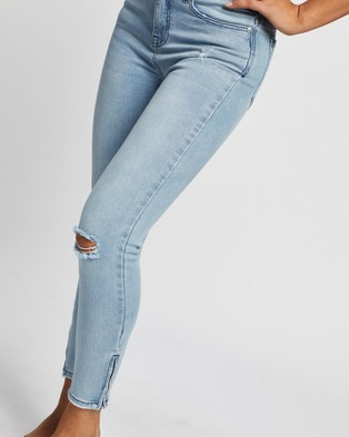 All About Eve Isabella Ankle Grazer Jeans Crop LIGHT BLUE