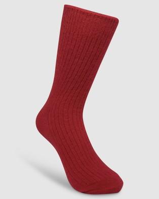 High Heel Jungle Cashmere Sock - Socks & Tights (Watermelon Red)