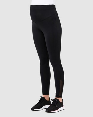 Ripe Maternity Active Over Tummy Leggings - Maternity Tights (Black)